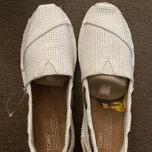 Toms Bimini Stitchout White Perforated 7.5